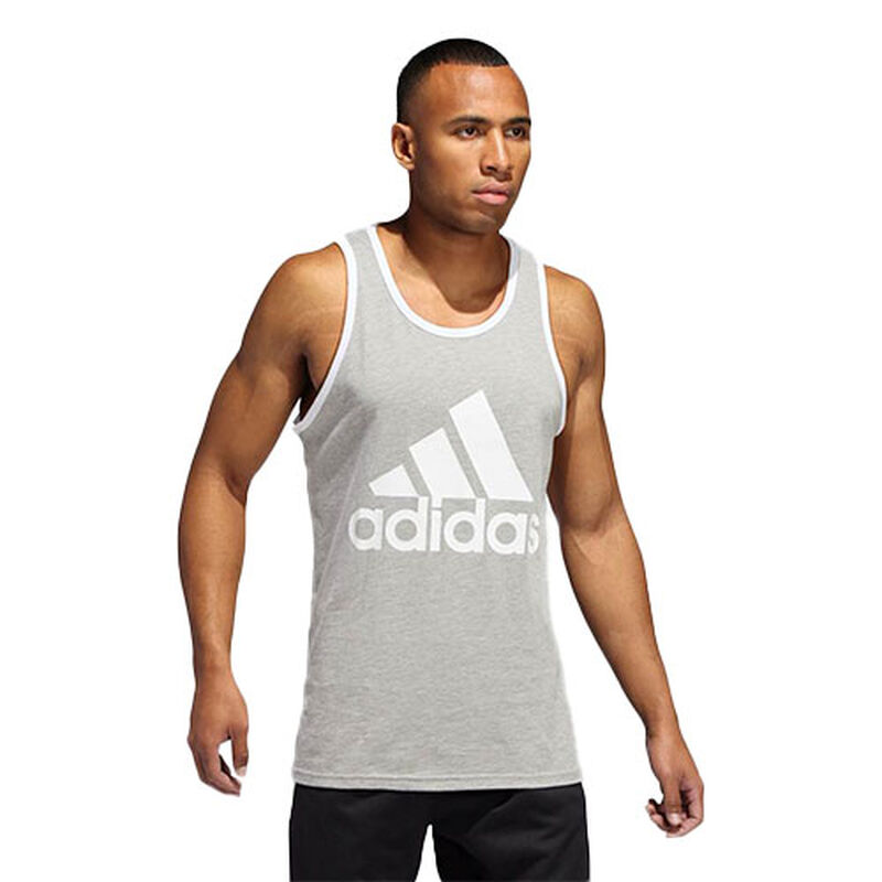 Men's Badge Of Sport Classic Tank Top, Gray/White, large image number 0