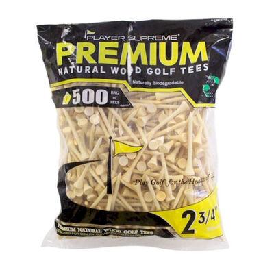 """Jp Lann 2-3/4"""" Natural Tees - 500 Pack"""