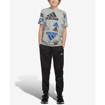 adidas Boys' Short Sleeve Brand Love Heather Tee