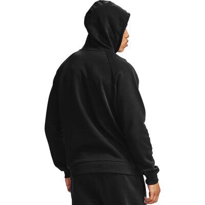 Men's Rival Fleece Box Logo Hoodie, Black, large