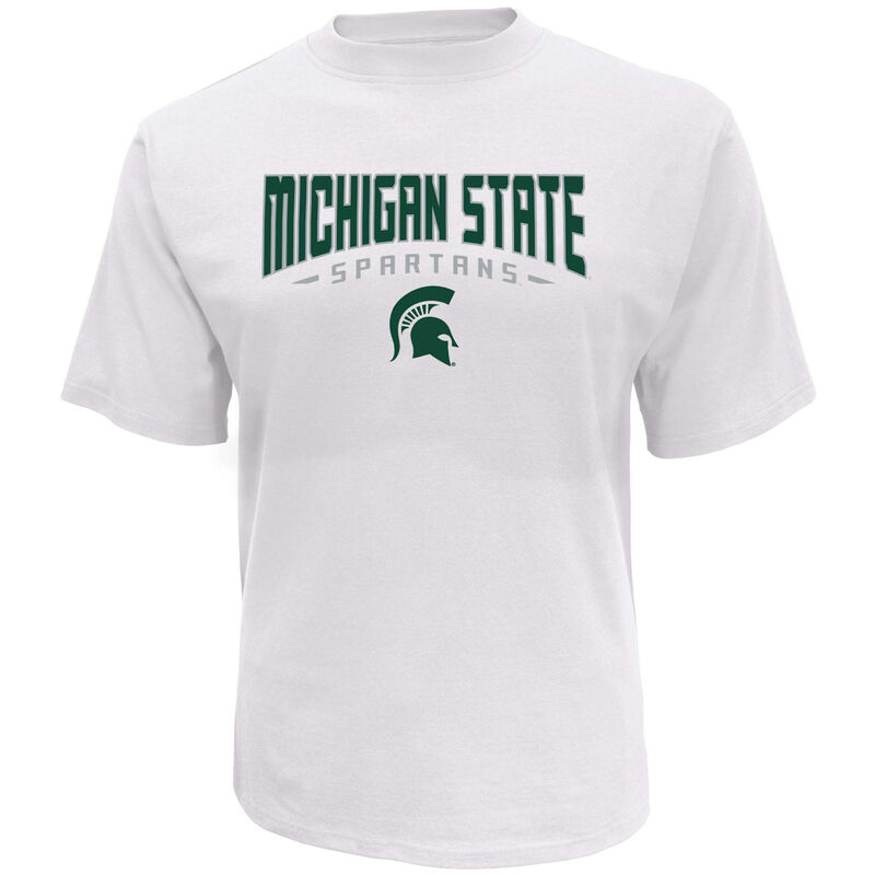 Men's Short Sleeve Michigan State Classic Arch Tee, White, large image number 0