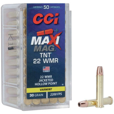 CCI 22WMR Maxi-Mag 30GR TNT Ammunition