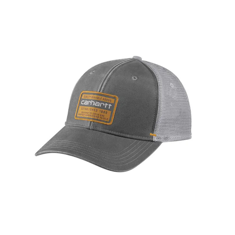 Men's Canvas Mesh Back Graphic Cap, Charcoal,Smoke,Steel, large image number 0