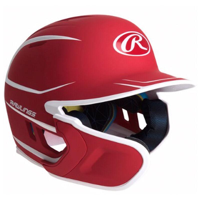 Junior MACH 2-Tone Matte Batting Helmet, Red, large image number 0
