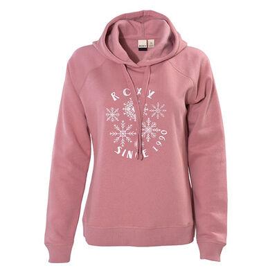 Women's Go To Big Snowflakes Fleece Hoodie, , large