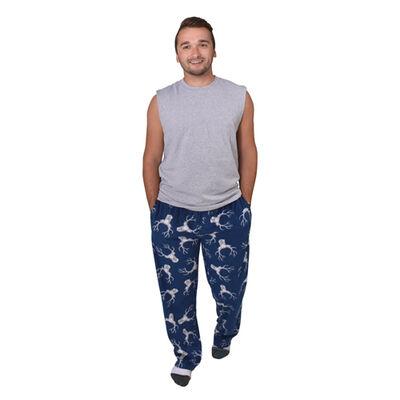 Canyon Creek Men's Navy Deerhead Lounge Pants