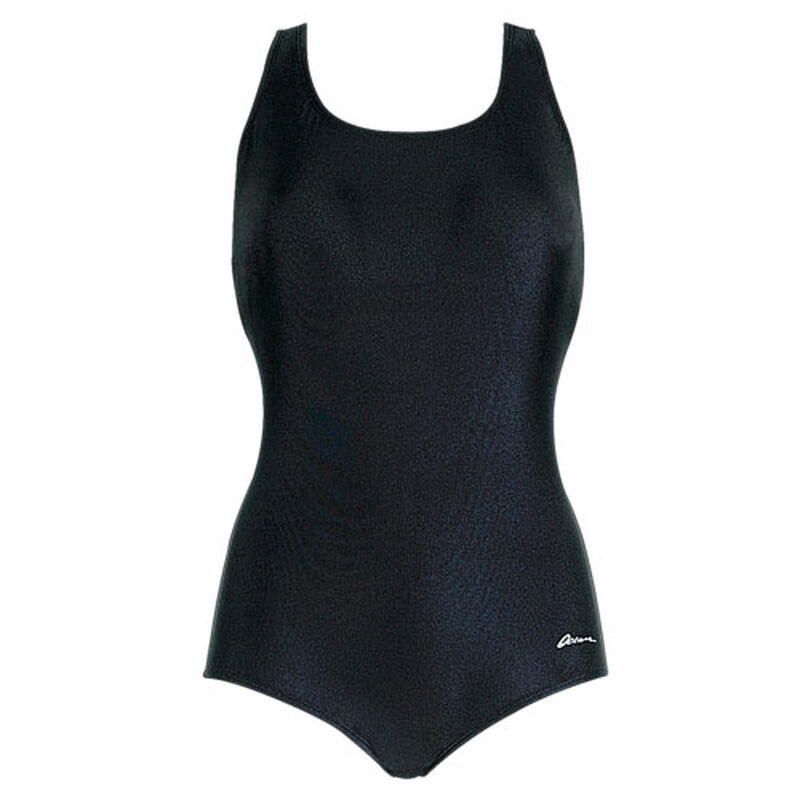 Women's Traditional Solid Lap Suit, , large image number 0