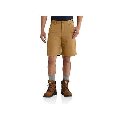 Men's Rugged Flex Rigby Shorts, Brown, large