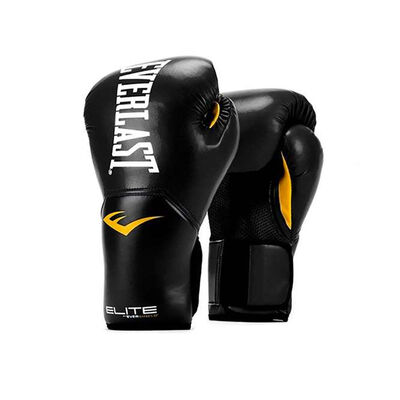 Everlast 14 Oz. Black Pro Style Training Glove