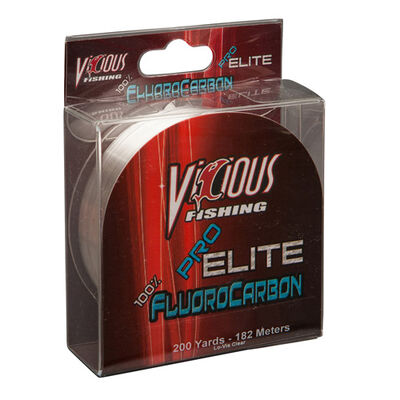 Vicious Fishing Eflo-12 Pro Elite 100% Fluoro ( 12lb Test  200 Yards)