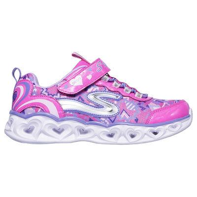 Skechers Girls' Preschool S-Lights Heart Light-Up Sneakers