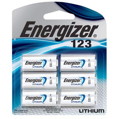 Energizer 123 Batteries 6-Pack