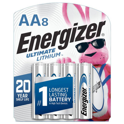 Lithium AA Batteries 8-Pack, , large