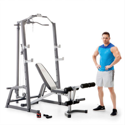 Marcy Deluxe Smith Cage System with Weight Bench