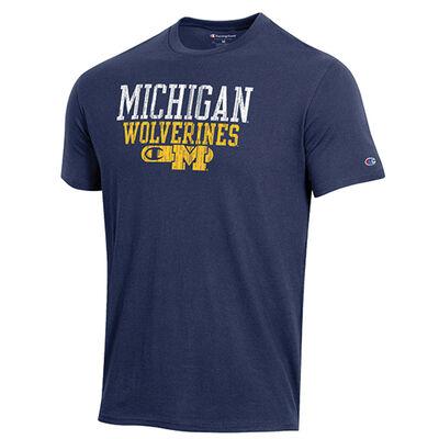 Champion Michigan Bar Script Short Sleeve Shirt