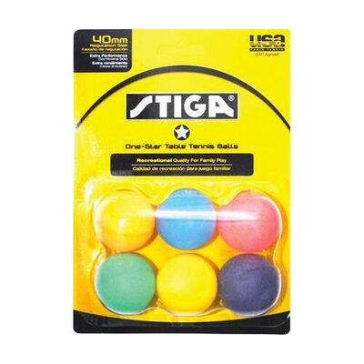 Stiga Tennis Table 6-Pack One-Star Multicolor Balls