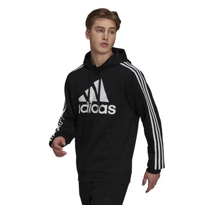 adidas Men's Essentials Fleece 3-Stripes Logo Hoodie