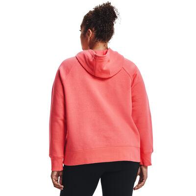 Women's Plus Rival Fleece Hoodie, Coral, large