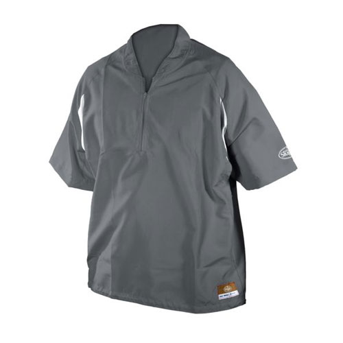 Youth Batting Cage Pull Over Jacket, Gray, swatch