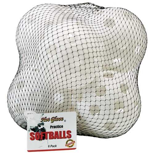 6 pk Wiffle Softballs, White, swatch