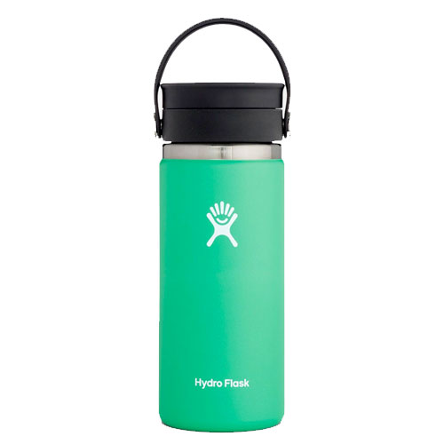 16oz Wide Mouth With Flex Sip Lid, Bright Grn,Kelly,Emerald, swatch