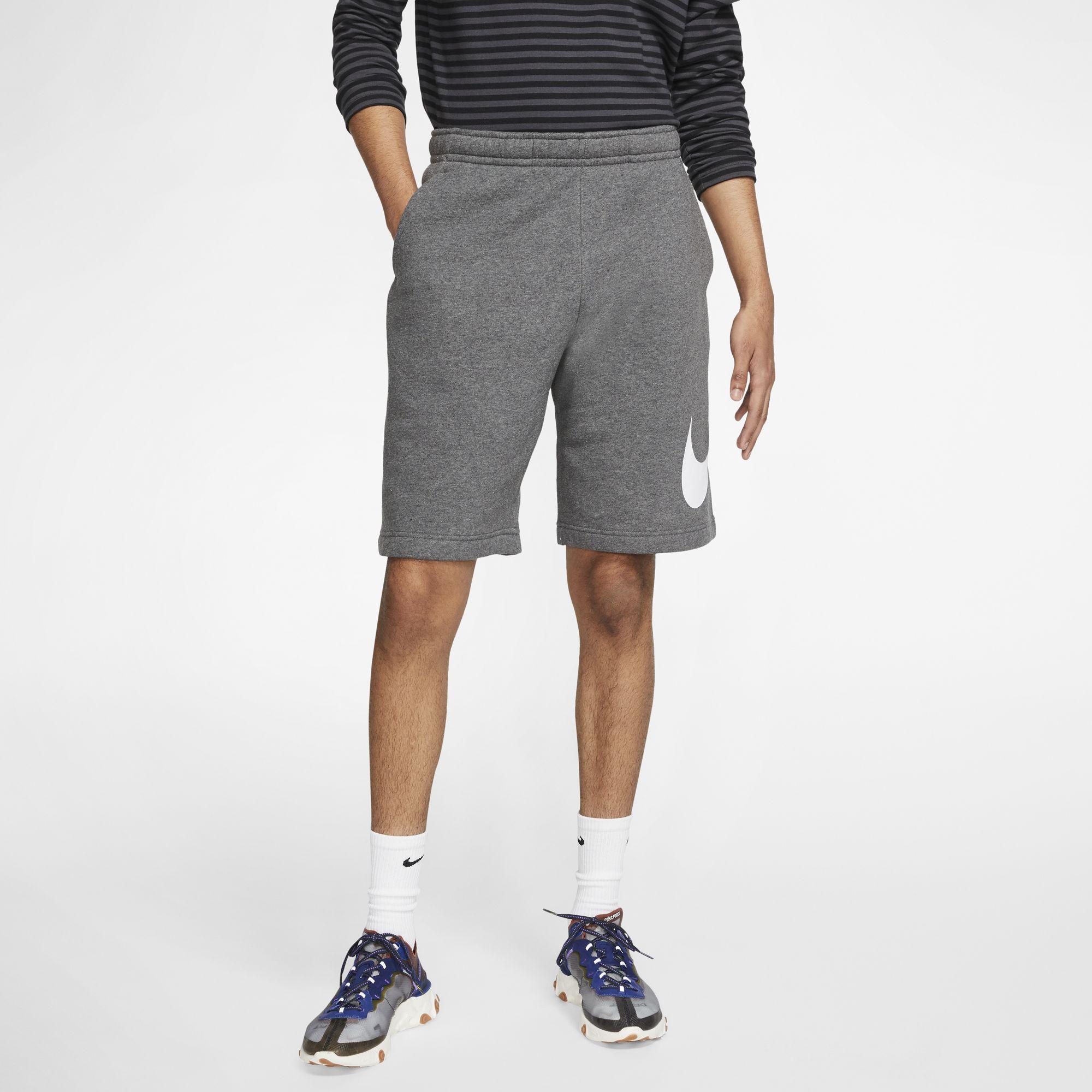 Men's Sportwear Club Graphic Shorts, Charcoal,Smoke,Steel, swatch
