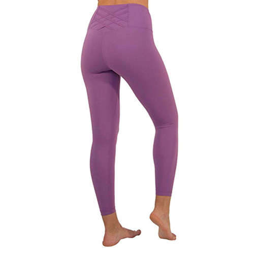 Women's Lux Hi Rise Tape Waistband Ankle Legging, Purple, swatch