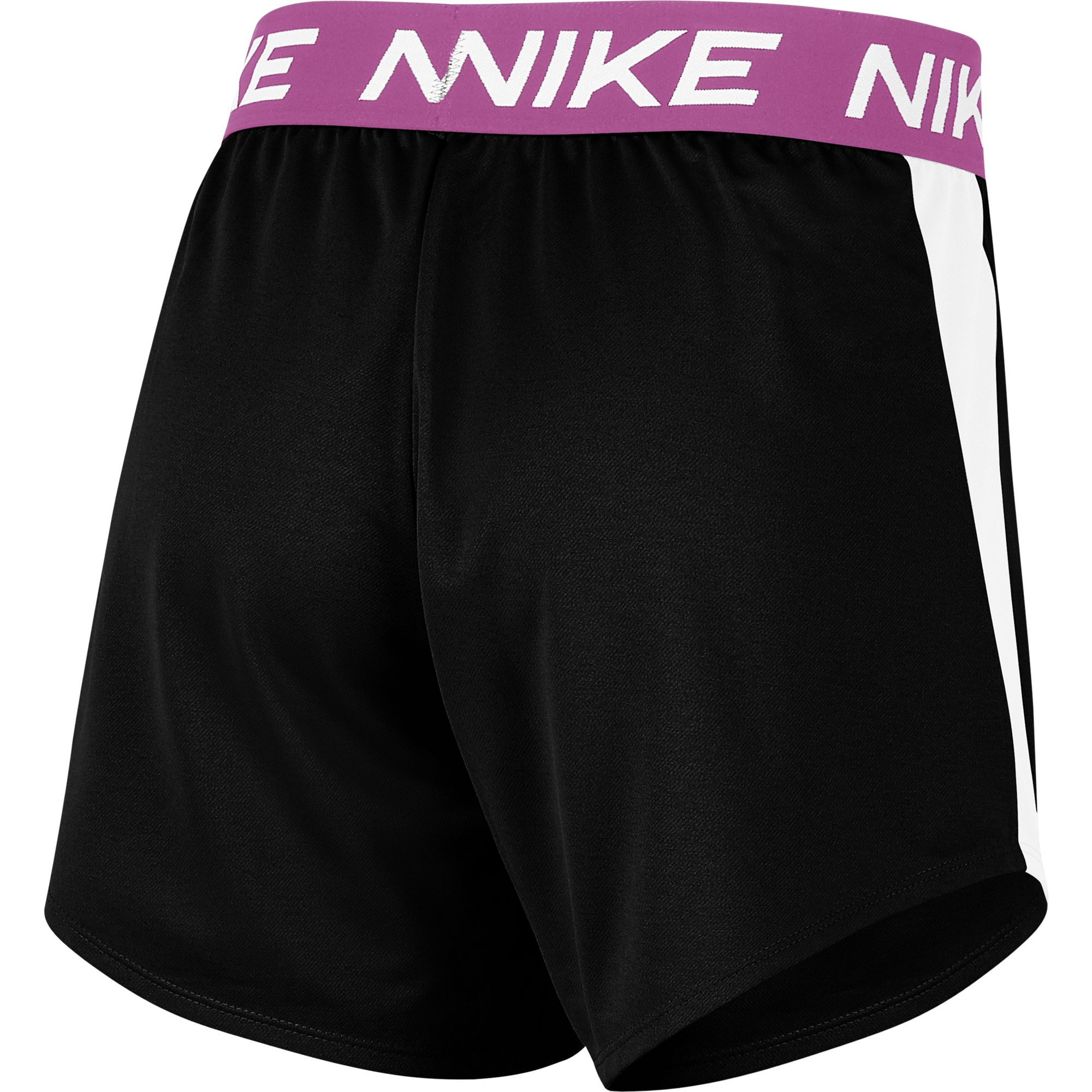 Women's Dri-Fit Attack Color Block Training Short, Black/Pink, swatch