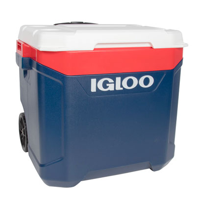 Latitude 60 Quart Roller Cooler, Red, White And Blue, swatch