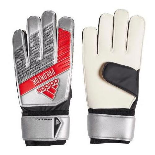 Junior Predator Goalie Gloves, Silver/Red, swatch