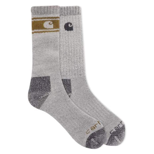 Wool Blend Crew Socks 4-Pack, Gray, swatch