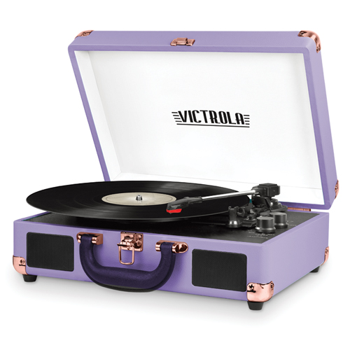 Portable Bluetooth Turntable, Lilac,Lavendar, swatch