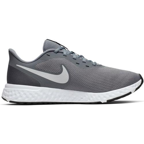 Men's Revolution 5 Running Shoes, Gray/White, swatch