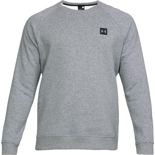 Men's Rival Long Sleeve Fleece Sweatshirt, Heather Gray, swatch