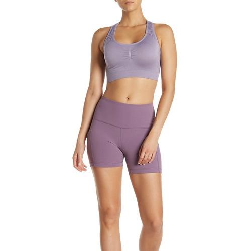 "Women's 5"" High Rise Shorts, Light Purple, swatch"