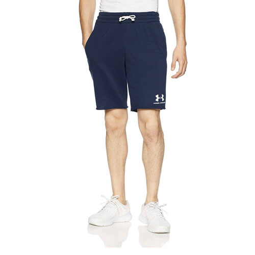 Men's Sportstyle Terry Shorts, Navy, swatch