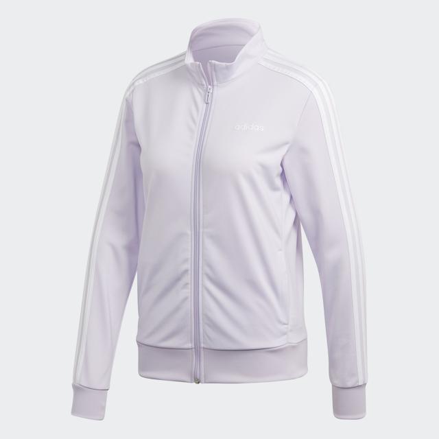 Women's Essential 3 Striped Tricot Front Zip Jacket, Light Purple, swatch