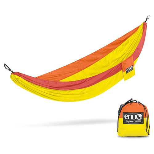 SingleNest Lightweight Camping Hammock, Orange/Yellow, swatch