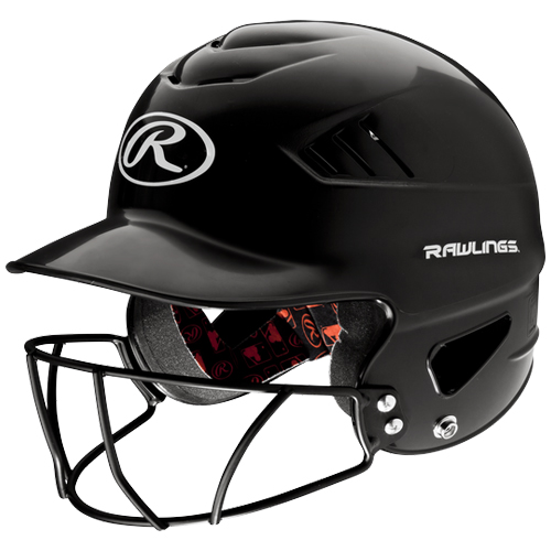 Youth Coolflo Batting Helmet With Cage, Black, swatch