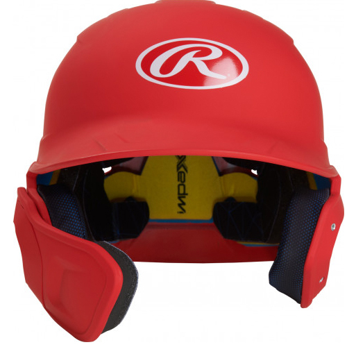 Senior MACH Matte Right-handed Batting Helmet, Red, swatch