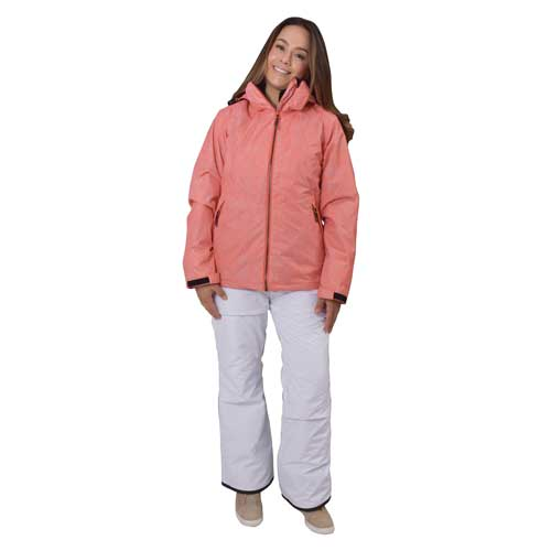 Women's Insulated Snow Pants, White, large