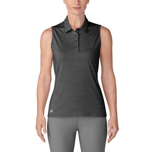 Women's Ultimate 365 Sleeveless Golf Polo, Black, swatch