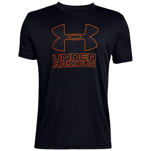 Boy's Under Armour Print Logo Tee, Black, swatch