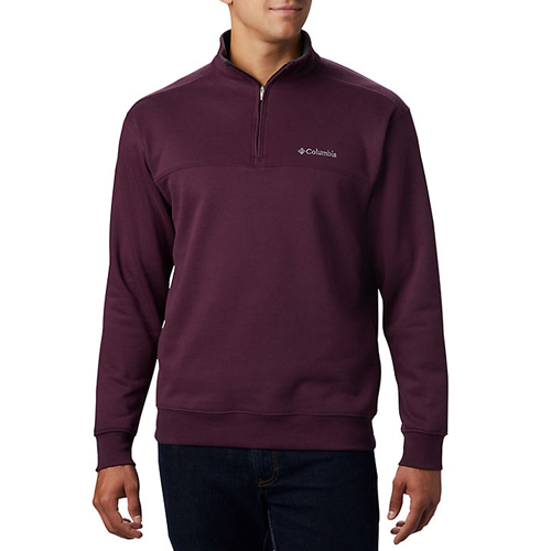 Men's Hart Mountain II Half-Zip Pullover, Dk Red,Wine,Ruby,Burgandy, swatch