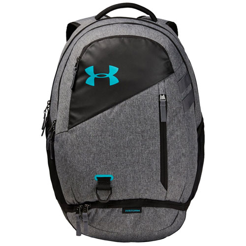 Under Armour Hustle 4.0 Backpack, Gray/Blue, swatch