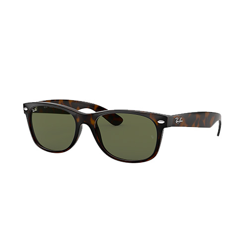 New Wayfarer Classic Sunglasses, Brown/Green, swatch