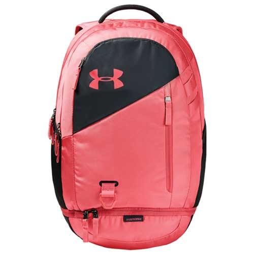 Under Armour Hustle 4.0 Backpack, Pink/Gray, swatch