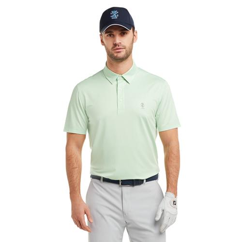 Men's Gingham Golf Polo, White, swatch
