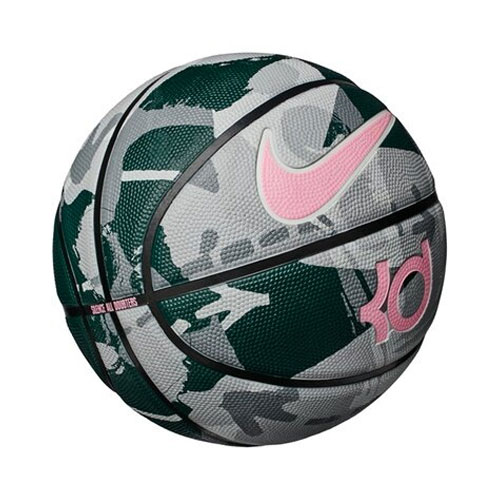 KD Official Basketball, Gray/Green, swatch