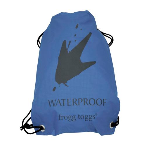 Waterproof Drawstring Backpack, Blue, swatch